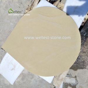 景色のための水低下デザインのベージュ砂岩、砂岩タイルの敷石