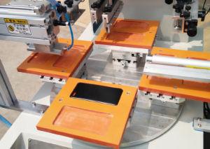 Flatbed Roterende Machine van de Druk van het Scherm met het Wapen van de Robot