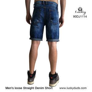 Jeans di Shorts dei tipi di Shorts delle blue jeans del denim degli uomini