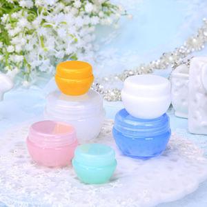 空の白い青緑の黄色PP Cosmesticの包装のクリーム色の瓶