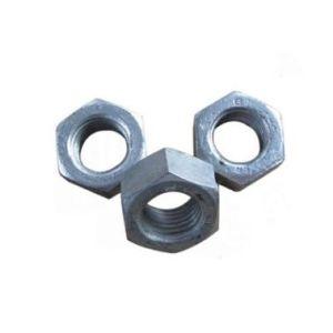 En acier au carbone de l'écrou hexagonal galvanisé mince