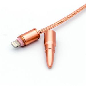 Câble USB en métal de la foudre Bullet câble du chargeur rapide de la tête de l'iPhone