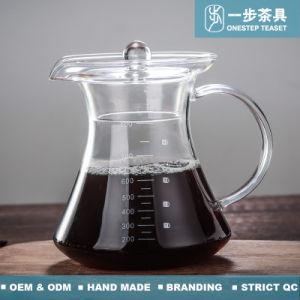 De Hittebestendige Pot van uitstekende kwaliteit van de Koffie van het Glas Borosilicate