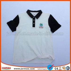 カスタム円形の首の人は袖の綿の絹の印刷の昇華印刷のTシャツのポロシャツをショートさせる