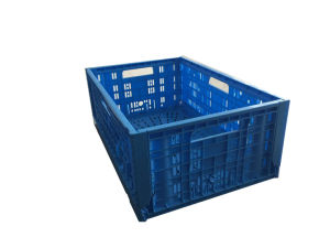 Los supermercados frutas y hortalizas, el uso de plástico plegables cajas canastas de volumen de negocios con diseño plegable