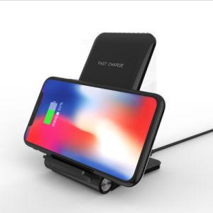 Universalqi-drahtlose schnelle Aufladeeinheit für iPhone drahtlose schnelle Tischplattenaufladeeinheits-bewegliche drahtlose Aufladeeinheit für Samsung