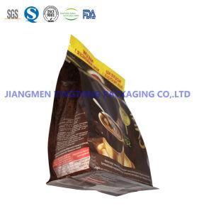 Les emballages alimentaires sacs en plastique joint latéral de 8 pochettes refermables pour le café