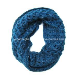 Fashion Acrylic Cashmere Knitted女性無限スカーフ