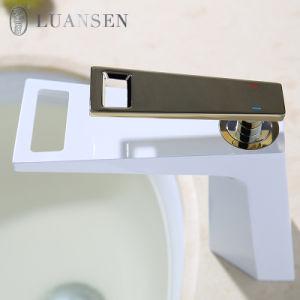 Luansenの黒いカラー真鍮水蛇口の混合弁Upcの洗面器の蛇口