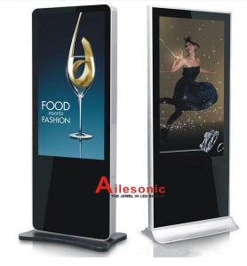 DigitalSignage 32 Zoll-Fußboden, der androiden Kiosk LED LCD Digital bekanntmacht Spieler-videoanzeigen-Spieler steht