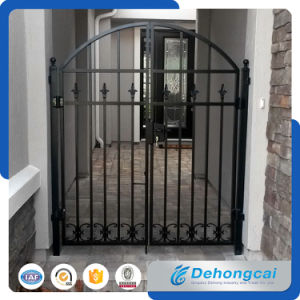 Cancello nero durevole del ferro di Wrough di alta qualità nel disegno della griglia