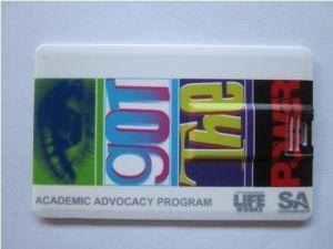 Impresión a todo color de la tarjeta de crédito plástica unidad Flash USB (OM-P508)
