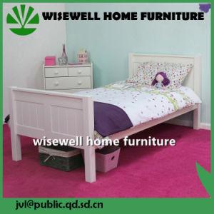 Cama de criança em madeira de pinho mobília em tamanho único (W-B-5034)