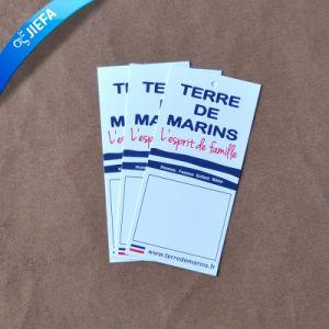 prix d'usine Design papier carton Tag/étiquette d'impression Tags