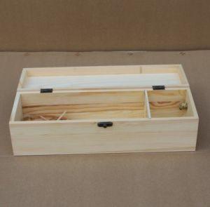 De houten Doos van de Verpakking van de Wijn van het Pakket van de Wijn van de Dozen van de Wijn
