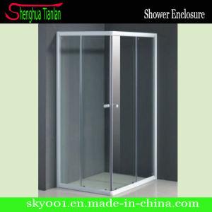 Горячий простой квадратной закаленное стекло душ (TL-519)
