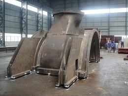 Finition intérieure de turbine à gaz carter usiné