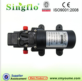 Singflo Hot Sale Flo2202-1 4.3L/Min 356psi 3.5A 12V Small Electric rv Diaphragm Pump