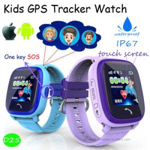 IP67は防水する双方向通信(D25)を用いる子供GPSの腕時計を