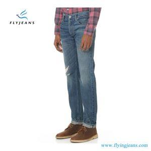 Jeans casuali blu degli uomini del denim portati modo con servizio personalizzato dell'OEM (P.E. 4117 dei pantaloni)