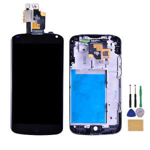 Conjunto de la pantalla táctil LCD de LG Google Nexus 4 E960.