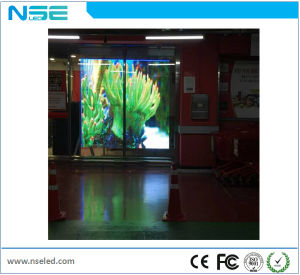 P16mm Taille personnalisée Publicité intérieure affichage LED en verre transparent