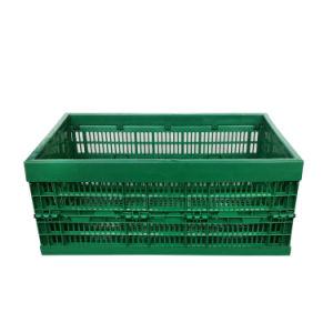 Caixa de plástico dobráveis ventilada com tampa para o uso do storage