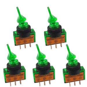 12V 20A Green LED off/on Spst Toggle Rocker Switch 3pin per Car Boat