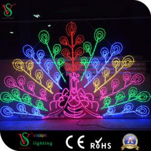 LEIDENE van het Motief van Fairyt Licht van de 2D het Decoratieve Cijfers van de Pauw