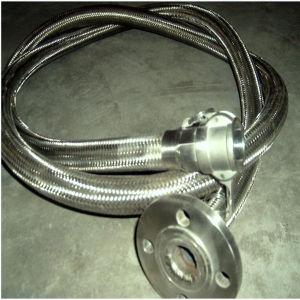 Ss 304の編まれた溶接されたフランジを付けたようになった波形の金属ホース12インチ