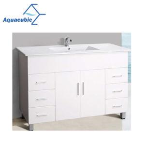 Aquacubicのオーストラリアの普及した高い光沢のある白い浴室の虚栄心をカスタマイズする