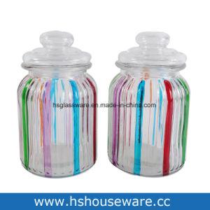 مجموعة من 3, يد [دروينغ كلور لين] زجاجيّة عليبة مجموعة, مرطبان زجاجيّة يثبت مع [بّ] غطاء