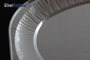 Conteneur d'aluminium à usage unique / bac /boîte à lunch pour le conditionnement des aliments
