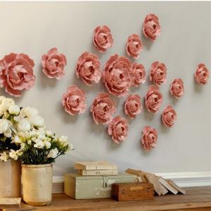 Decorações de parede Flores de cerâmica artesanal ornamentos de quartos de decoração