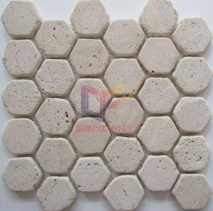Travertin-Stein-Mosaik (CFS1065)