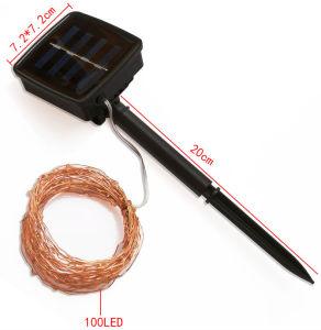 Unterschiedlicher Typ LED-energiesparende Blumen-Garten-Baum-Solarzeichenkette-Licht