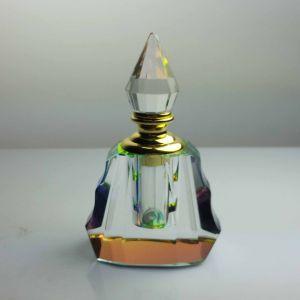 ガラス帽子が付いている2018年のデザイナー油壷の水晶香水瓶