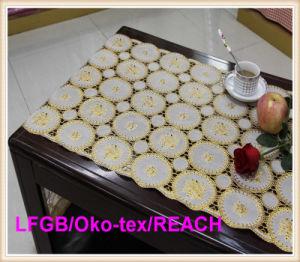 Tapis de table en argent et en argent de vinyle PVC long et blanc 50cm Largeur