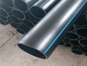 Tubo di plastica dell'HDPE nero per il rifornimento idrico PE100 o PE80