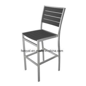 옥외 안뜰 많은 목제 알루미늄 정원 식탁 및 바 의자 가구 세트