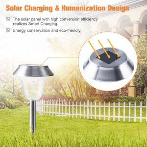 Indicatore luminoso solare del prato inglese dell'acciaio inossidabile LED di prezzi di fabbrica per il giardino del patio dell'iarda
