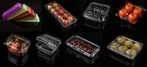 O OEM aceita Preto Caixa de embalagem de plástico transparente para frutas e produtos hortícolas