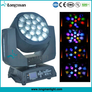 19*15W RGBW 광속 DJ 디스코 단계 빛 LED 이동하는 헤드