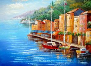 Het met de hand geschilderde Overzeese van de Kunst van het Canvas van het Zeegezicht ZijOlieverfschilderij van het Landschap (links-327000)