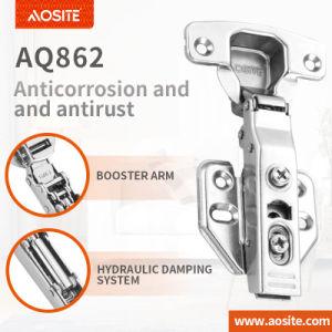 AQ866 Clip-sobre el cambio de cierre suave amortiguación hidráulica bisagra de puerta del armario de cocina (dos)