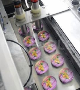 음식 패킹 자동적인 충전물 및 밀봉 기계는 및 생산 날짜를 인쇄한다