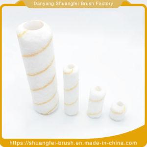 Une bande verte jaune rouleau de fil acrylique de base avec poignée en plastique