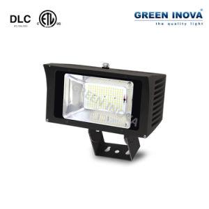 ETL DLC PI65 LED Projector exterior luminária de luz de inundação com 6 anos de garantia