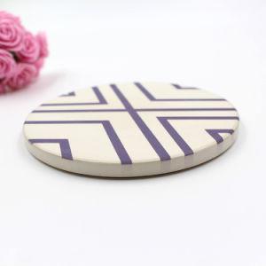 Bandeja de cerâmica absorvente Hotsell amazônica Coasters Soft Cork Montanha Russa de pedra para trás