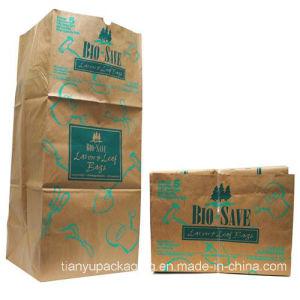 잎 쓰레기 옥외 Kraft 종이 봉지 잎과 잔디밭 패물 쓰레기 종이 봉지